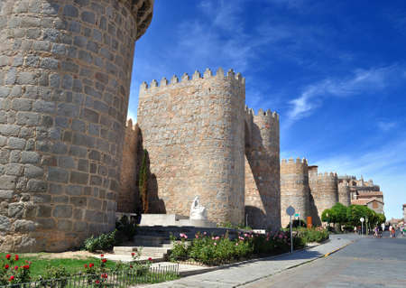 Walls of Avila  Spain   photo