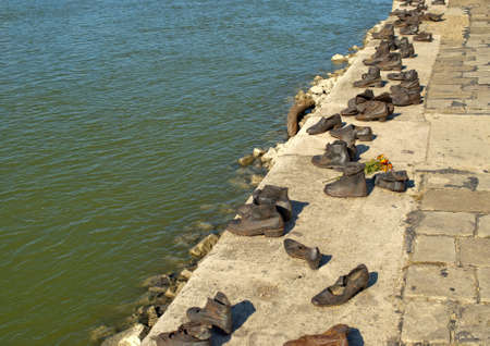 Shoes on the Danube Promenade, Budapest  Hungary
