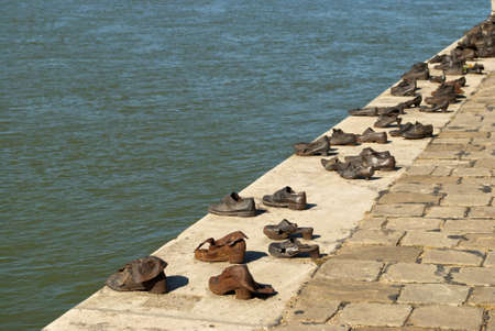 danuba: Shoes on the Danube Promenade, Budapest  Hungary