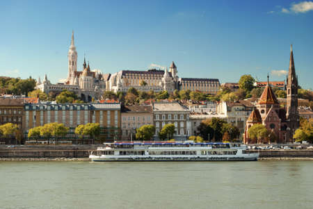 river stones: Fisherman s Bastion in Budapest  Hungary