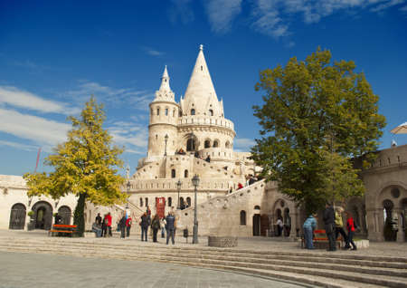 bastion: Fisherman Bastion in Budapest  Hungary