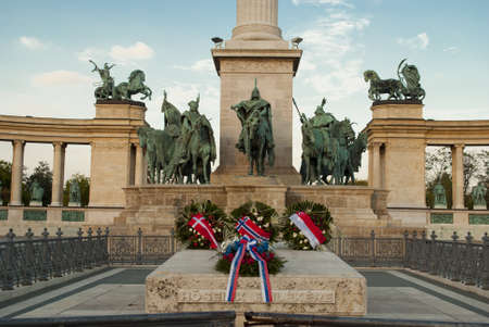Heroes Square in Budapest  Hungary Stock Photo - 17167956