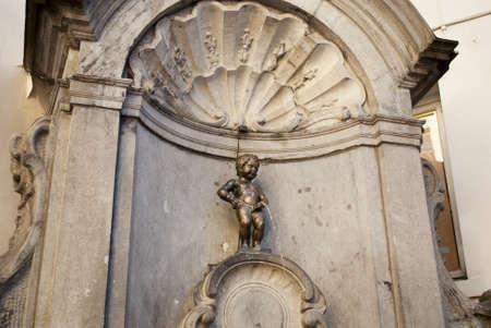 piss: Manneken piss in Brussel  Belgium