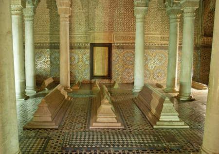 Le Tombe Saadiens a Marrakech Marocco Archivio Fotografico - 18509704
