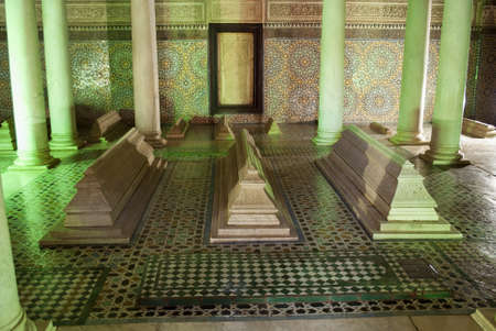 The Saadiens Tombs in Marrakech  Morocco