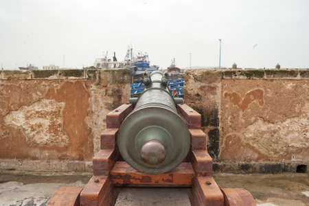 sightseeng: Cannon in the fortress in Essaouira  Stock Photo