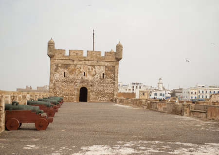 fortified: The fortress of Castelo Real of Mogador at Essaouira, Morocco Stock Photo