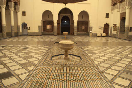 Interior of Marrakech museum, Morocco