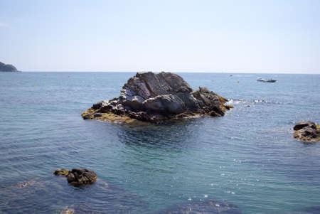 costa brava: Plage de Lloret de Mar sur la Costa Brava