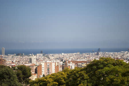 aereal: Aereal view of Barcelona, Spain