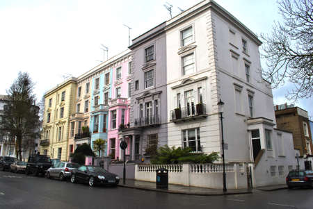 notting: the 1980s, Notting Hill now has a contemporary reputation as an affluent and fashionable area, known for attractive terraces of large Victorian townhouses Editorial