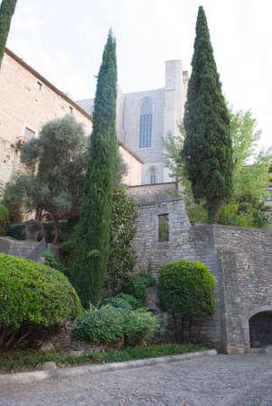 Barri Vell of Girona, Spain Stock Photo