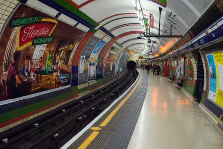 LONDON - JANUARY 26: The piccadilly tube station is one of the most famous london on january 24, 2016 in London, UK.