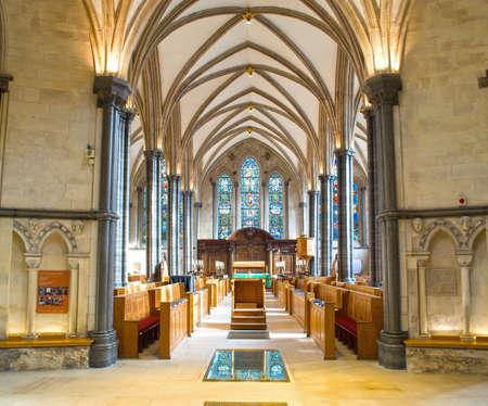 Interior of Temple church,London
