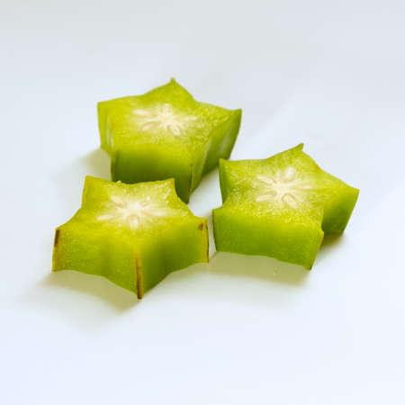 juicy tropical fruit carambola green