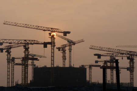 Construction of the first unit of the Bangladesh nuclear power plant. Nuclear energy. Banque d'images