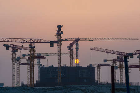 Construction of the first unit of the Bangladesh nuclear power plant. Nuclear energy.