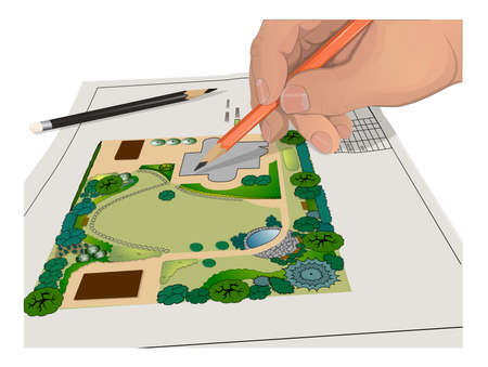 general: Hand, Pencils, general plan