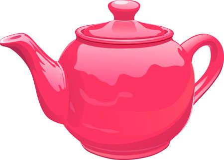 Red ceramics  teapot.