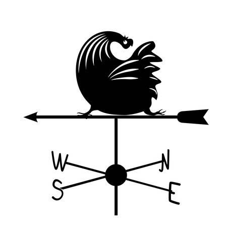 Weathervane - Black running rooster2.