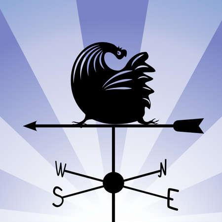 windward: weathervane - running rooster 5. Illustration