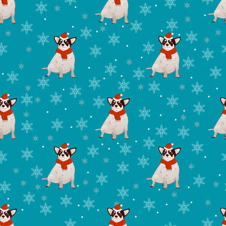 Pattern with a dog