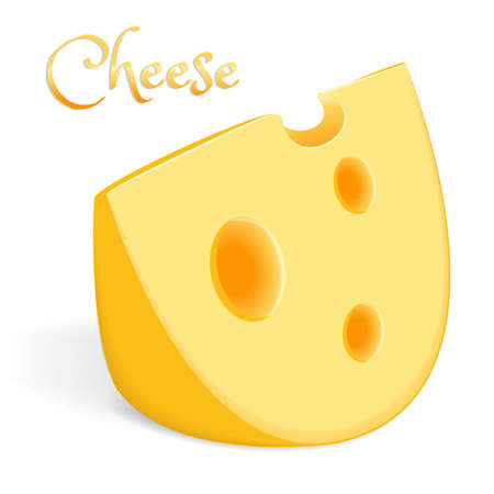 A large piece of cheese Ilustrace
