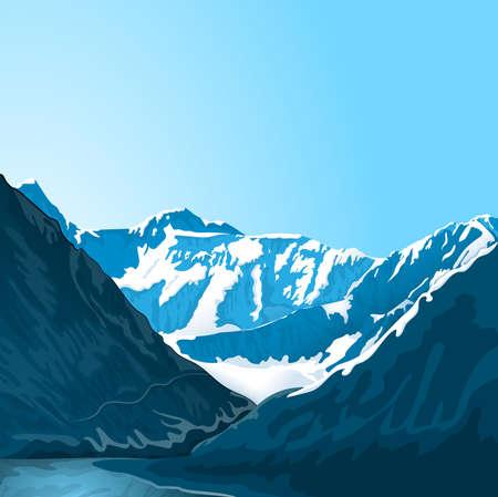 Mountain Altai landscape.