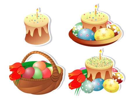 Clipart Easter baskets