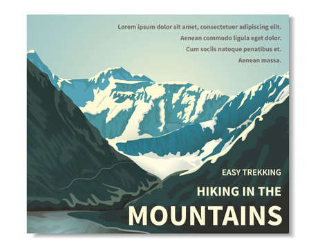 Mountain landscape horizontal banner