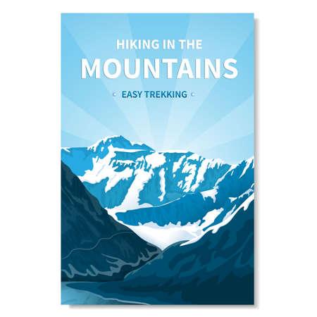 Mountain landscape vertical banner Ilustrace