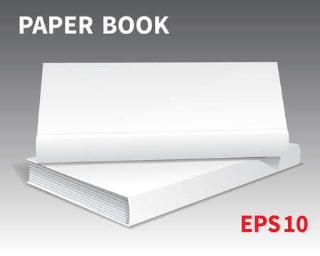 Mock-ups of paper books