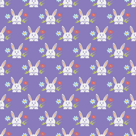 Easter bunny pattern Stock Illustratie