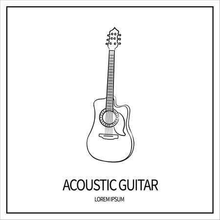 acoustic guitar icon Stock Vector - 123177450