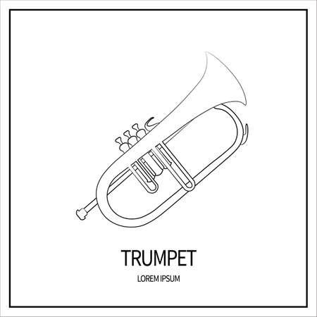 trumpet isolated icon  イラスト・ベクター素材