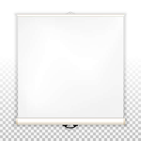 Blank screen for projector, view slides and presentations. Blank template to insert text on a transparent background. Vector graphics