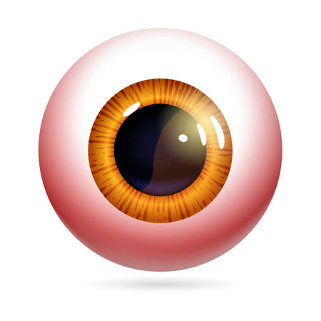 Red eyeball vector