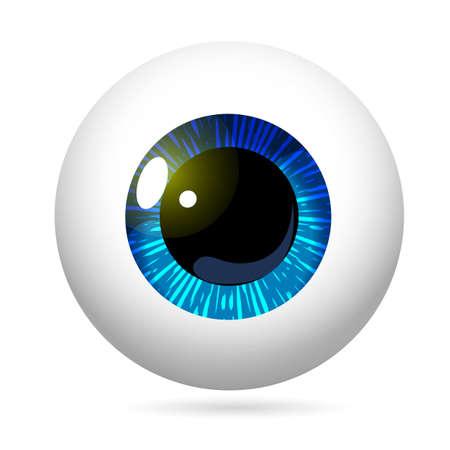 Eyeball Blue Iris Vector Illustration