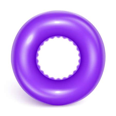 Purple swimming circle