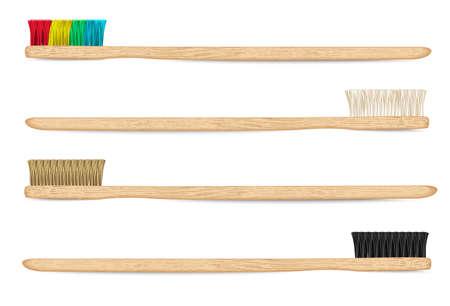 Bambuszahnbürsten Vektor 1