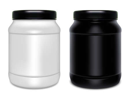 two plastic cans vector Çizim