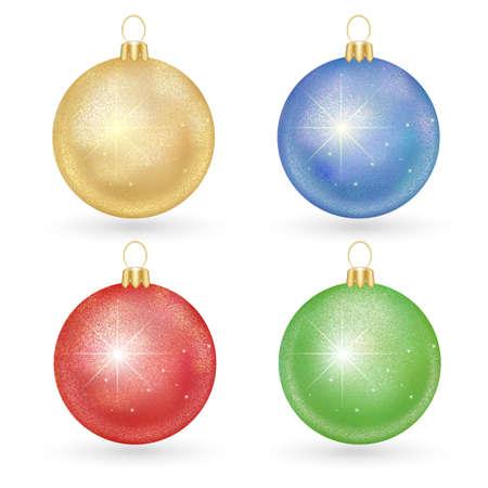 shiny christmas balls set