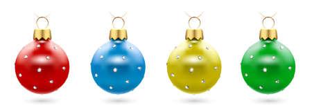 Christmas balls with sparkles