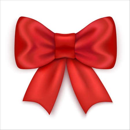 Red bow vector 2 Vektorové ilustrace