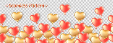 golden pink balls seamless pattern