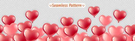 Seamless pattern balloons. Illustration