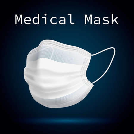 Medical mask vector