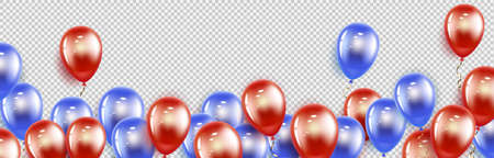 Blue red balloons