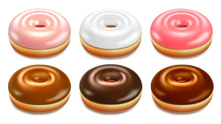 Donuts set vector