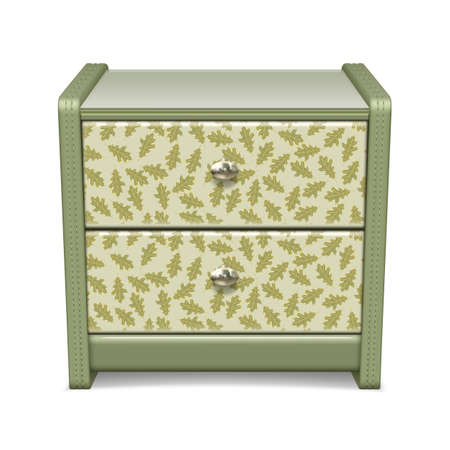 Bedside table with a pattern